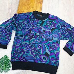 Far Horizons Pure New Wool Vintage Printed Sweater